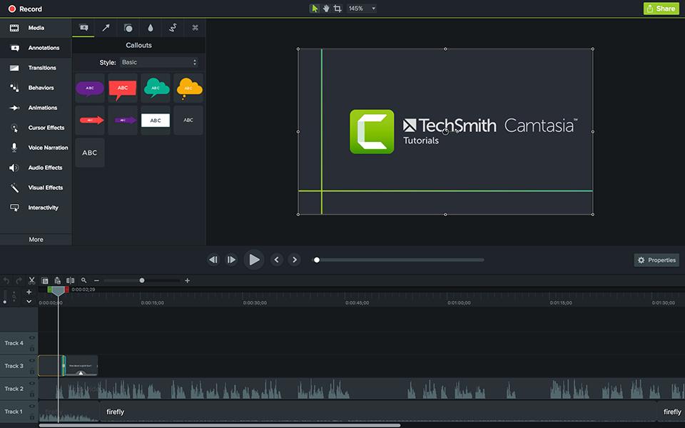 Camtasia Instructional Design Software Tool