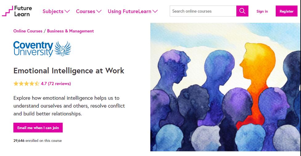 Emotional Intelligence Training Course - Emotional Intelligence at Work on Future Learn