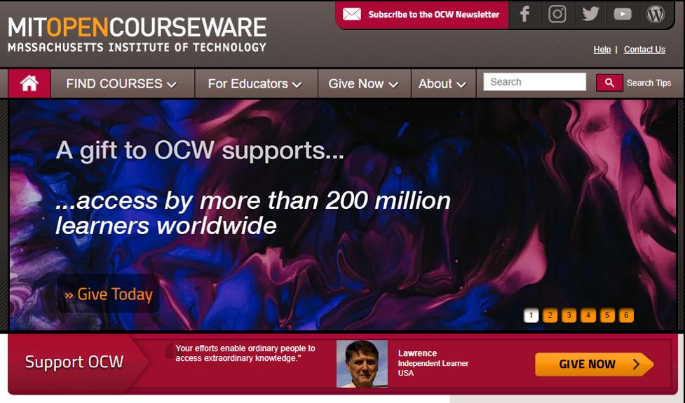 Online Training Resource - MIT Open Courseware