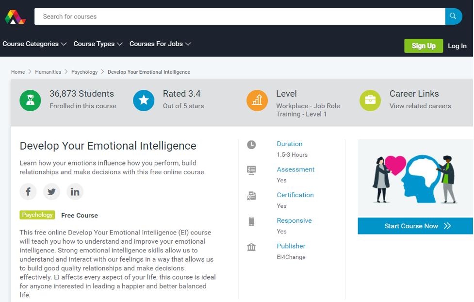 Eq Course - Develop Your Emotional Intelligence on Alison