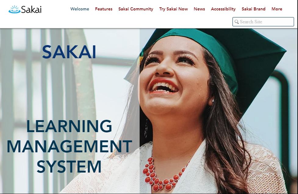 Sakai Learning Management System example