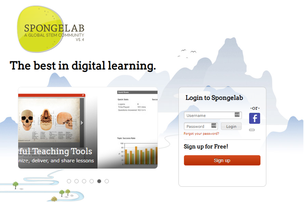 Spongelab Learning Management System example