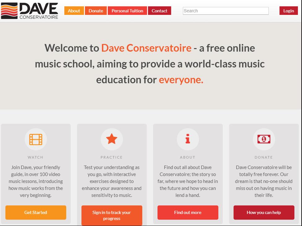 Online Training Resource - Dave Conservatoire