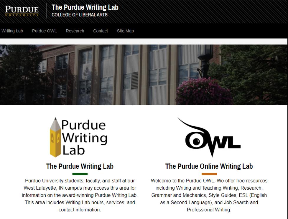 Online Training Resource - Purdue Online Writing Lab