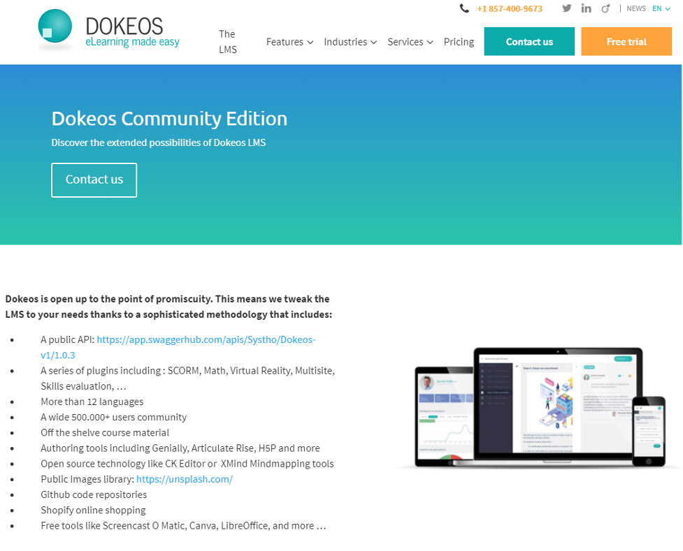 Social Learning Website - Dokeos