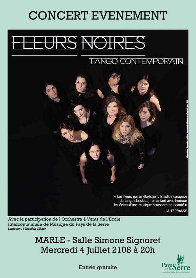 FLEURS NOIRES en concert ! (4 juillet 2018)