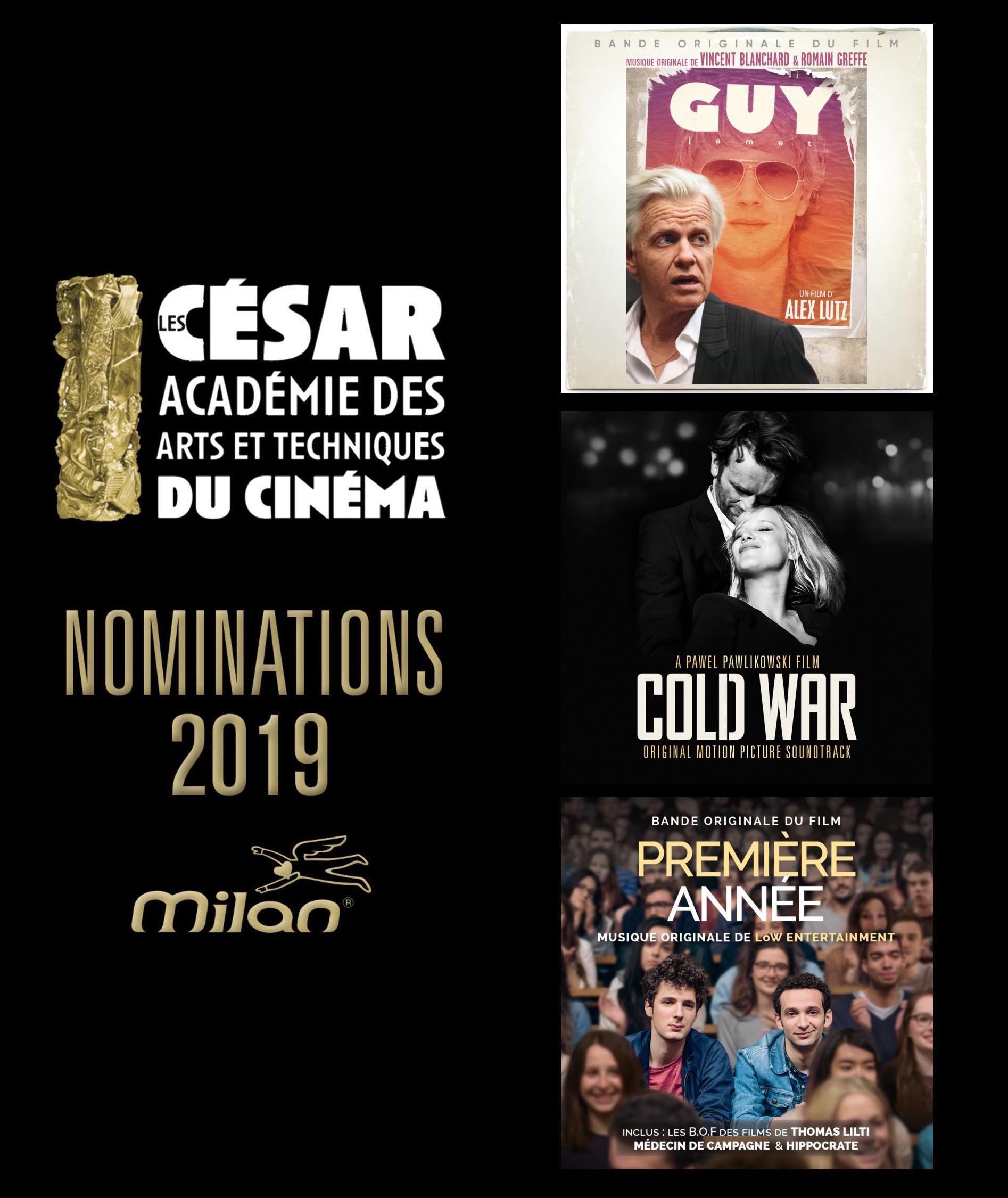 Les nominations des Césars 2019