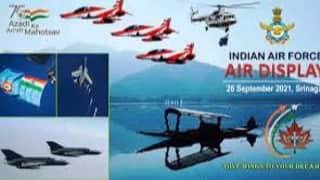 Air Show: श्रीनगर में 13 साल बाद वायुसेना का एयर शो, डल झील के ऊपर फाइटर जेट्स ने दिखाईं कलाबाजियां