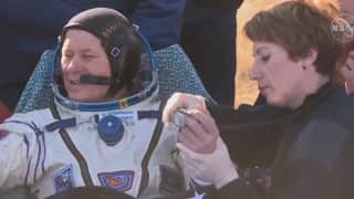 First film shot in the space: Russian filmmakers land after shoot aboard space station