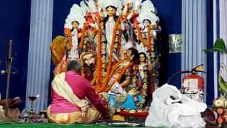 Sunshine Green Complex Puja: নবমীতে উৎসবে মাতোয়ারা বাংলা, সানসাইন গ্রীন কমপ্লেক্সে ধরা পড়ল সেই ছবি