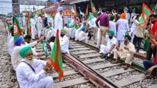 Lakhimpur Kheri deaths: trains affected as farmers hold rail roko agitation