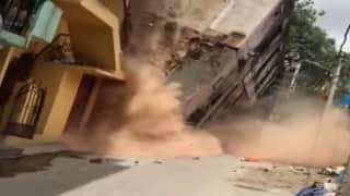 Building collapsed: बेंगलुरु में देखते ही देखते भर- भराकर गिरी इमारत,देखिए ये दिल दहलाने वाला Video