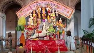 Durga Puja 2021 : অষ্টমীতে কেমন চলছে কৃষ্ণনগর রাজবাড়ির পুজো, দেখুন...