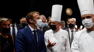 Watch: Egg thrown at French President Macron at a public event