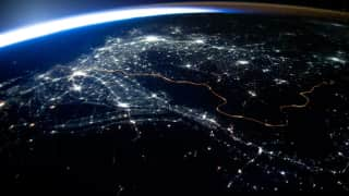 Out of the world: ISS releases pictures of Earth's glowing horizon