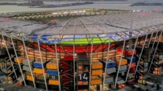 A football stadium that will disappear after the 2022 World Cup