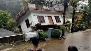 Watch: house in Kerala gets washed away by strong river currents