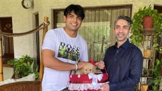 Neeraj Chopra और Abhinav Bindra की 'गोल्डन मीट' के चर्चे, अभिनव बोले- मिलकर अच्छा लगा गोल्डन मैन