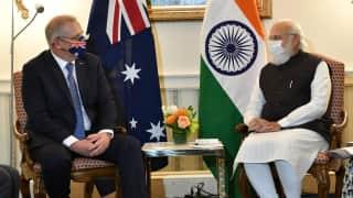 Modi in USA: PM मोदी ने ऑस्ट्रेलिया के PM स्कॉट मॉरिसन से की मुलाकात, जानें क्या हुई बात