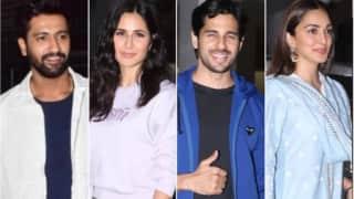 Celebrities attend Vicky Kaushal's 'Sardar Udham' screening, Katrina Kaif poses for the cameras