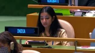 Watch: India's First Secretary Sneha Dubey slamming Pakistan at the UN