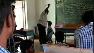 On camera: Tamil Nadu teacher lashes, kicks student 'for skipping class'
