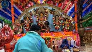 Durga Puja: নিষ্ঠা ও নিয়ম মেনে নিউইয়র্কের ব্রুকলিনের গৌর-নিতাই মন্দিরে হয় দুর্গাপুজো