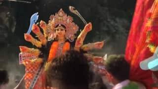 Durga Puja bisarjan: একাদশীতেও কলকাতার ঘাটে ঘাটে প্রতিমা বিসর্জন