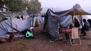 Migrants settled in Bosnia camp fighting for life