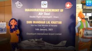 चंडीगढ़ से हरियाणा के हिसार के बीच देश की पहली हवाई टैक्सी सेवा शुरू