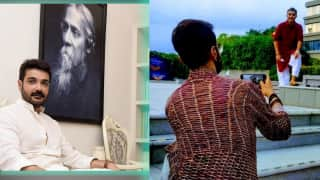 Prasenjit Chatterjee posts picture with son: বাবা-ছেলের মিষ্টি ছবি মন কাড়ছে অনুরাগীদের, জানেন তাঁরা কারা?