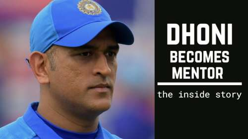 MS Dhoni's role as mentor