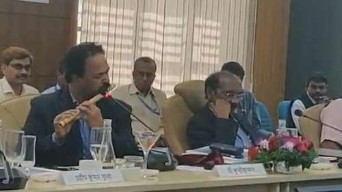 Viral: ISRO scientist plays flute at Parliamentary panel meet