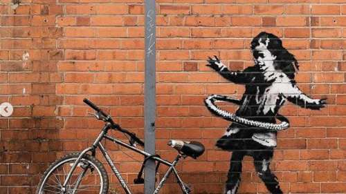 Hula-hoop girl mural in Nottingham confirmed as Banksy's