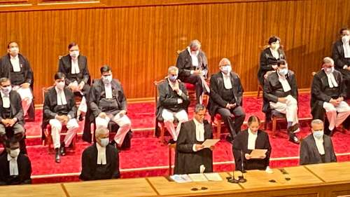 In a first, Nine new Supreme Court judges take oath in one go