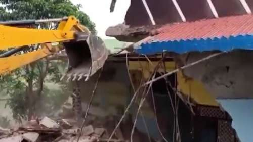 Watch: Homes of men accused in MP mob attack demolished