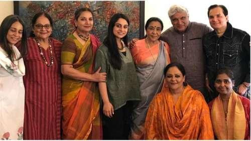 Asha Bhosle's 'chai pe charcha' features Javed Akhtar, Shabana Azmi, see pic
