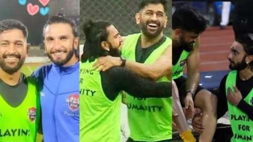 रणवीर ने खेला फुटबॉल