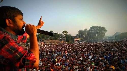 Youth icon Kanhaiya Kumar holds Congress hand