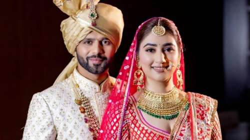 Rahul Vaidya and Disha Parmartie the knot, see first pic of the newlyweds
