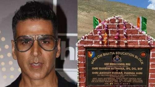 Akshay Kumar ने कश्मीर में स्कूल के लिए डोनेट किए 1 करोड़ रुपये, BSF ने शेयर की फाउंडेशन स्टोन की फोटो