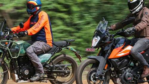 RE Himalayan vs KTM 250