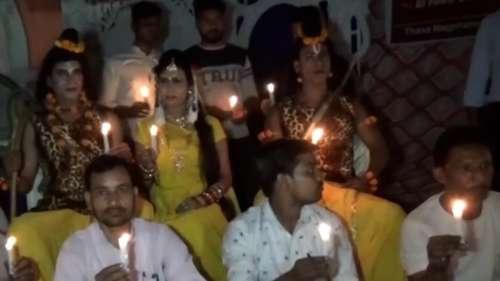 Watch: Ram, Laxman, Sita on dharna against power cut at Ramleela in UP