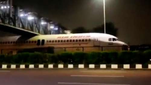 Watch: Air India aircraft gets stuck under bridge goes viral