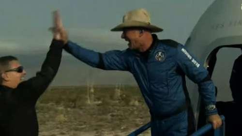 Watch: Jeff Bezos' historic flight to the edge of space