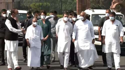 'Sack Minister Ajay Mishra': Rahul leads Congress team to President over Lakhimpur