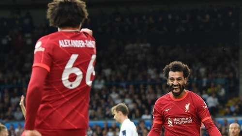 Salah scores his 100th Premier League goal as Liverpool beat Leeds 3-0