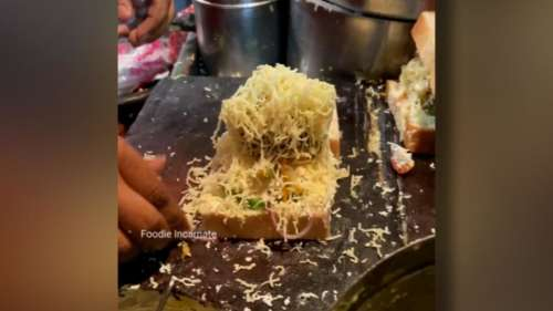 Viral Video: অবিশ্বাস্য গতিতে তৈরি হচ্ছে জিভে জল আনা মালাই স্যান্ডউইচ, তাও আবার খোদ কলকাতায়!