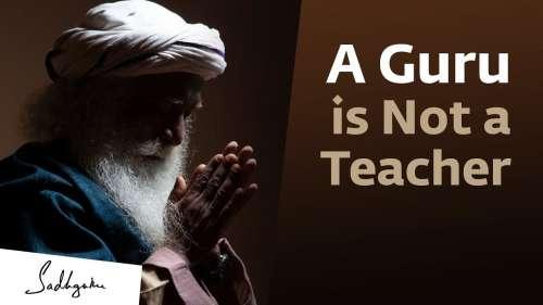 The difference between a guru and a teacher