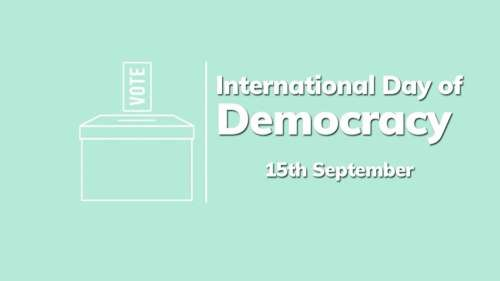 International Day of Democracy 2021: Time to strengthen the roots of democracy